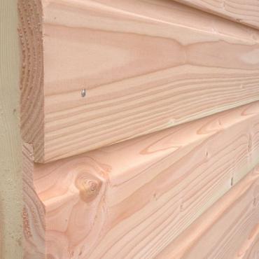 Douglas Rabat Overhangend fijn bezaagd 1.8x18x300cm ( werkend 17.5 cm )