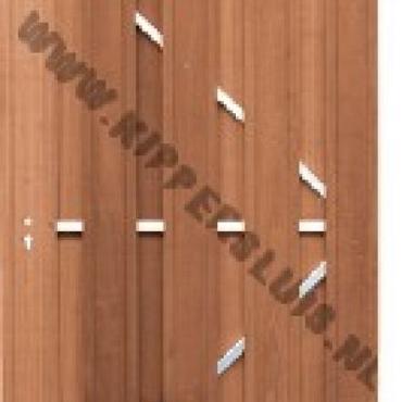 1585R Toog deur met frame Rechts draaiend 180x100cm