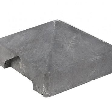 Afdekpet (Hoek-verbinding) antraciet voor alle palen met vlakke kop