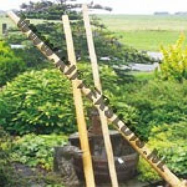 Bamboepalen voor decoratie 240 cm 4/5 cm