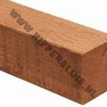 HH palen azobe geschaafd 6,5x6,5x300cm met V-Groef (uit assortiment)