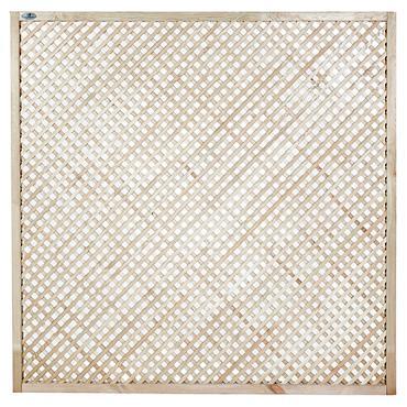 14211 Grenen trallies scherm diagonaal 180x90