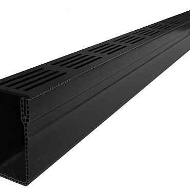 Slim Line Antraciet  100cm incl design rooster / special drain