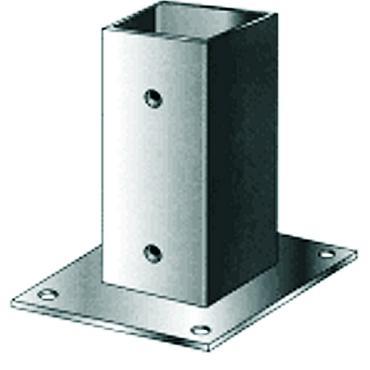 Voetsteun metplaat thermisch verzinkt 151x151 MM