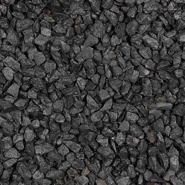 Basalt split zwart 8-11 mm 25 kg