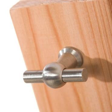 Buitenkeuken enkel 168 Excellent, 168 x 61,5 x 56 cm (HxBxD) met 3 schappen en deuren, onbehandeld.