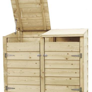 Containerkast dubbel, 128,7 x 152 x 91 cm.