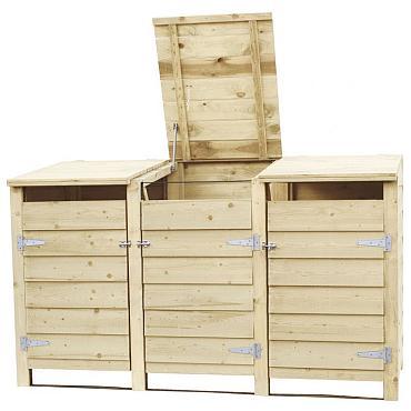 Containerkast tripel, 128,7 x 224,5 x 91 cm.