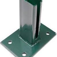 65004 Bodemplaat rechthoek groen 10x15cm