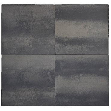 Betontegel Rivale 60x60x4.8cm grijs/zwart gevlamd