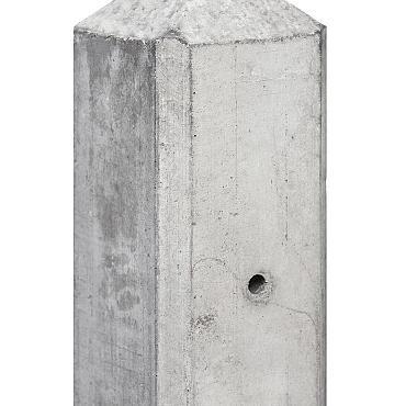 Tussenpaal grijs glad met diamantkop 10x10x280 cm