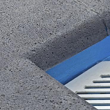 Oudhollands zwembadrand antraciet 100x40x5 cm