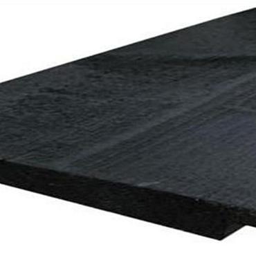 Zweeds rabat / ysselrabat noord europees 2,5x20x480cm 2x Zwart Gespoten
