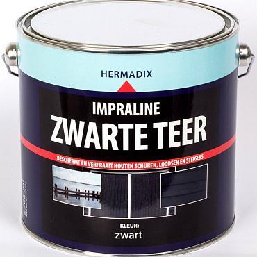 Impraline zwarte teer 2500 ml