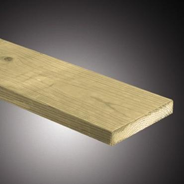Tuinplank Fijn bezaagd noord europees geimpregneerd 2,2x10x420cm