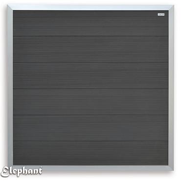 558 WPC Fortescherm Antraciet met Aluminium kader 180x180cm
