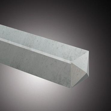Tussenpaal wit/grijs glad met diamantkop 10x10x190 cm
