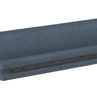 Betonpaal Rotsmotief Eindpaal antraciet 10x10x280 cm tbv scherm 130 cm