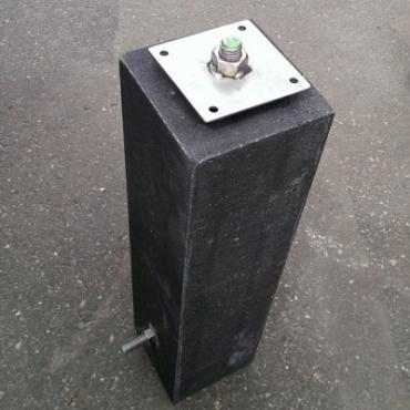 Betonpoer Antraciet 15x15x60cm met facet
