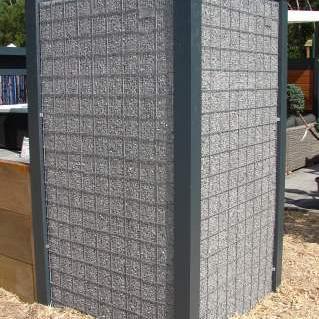 Aluminium paal tbv steenkorven 9x9x275cm incl 2st doppen