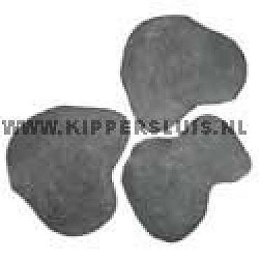 Flagstone p/st. Desert Black limestone geschuurd 2,5-4cm dik