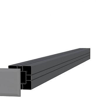 Aluminium paal 8,4 x 8,4 x 185 cm, antraciet.