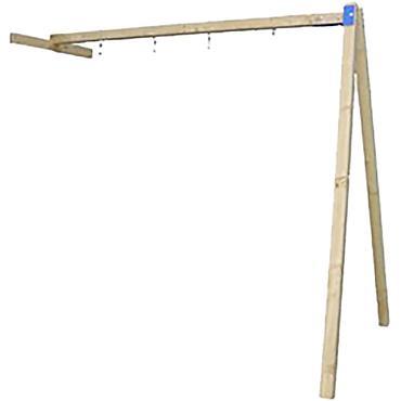 Schommelaanbouw t.b.v. speeltoestel Action/Crazy Climber/Orang-Oetan, groen geïmpregneerd.