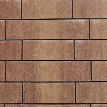 Balaton walling Marrone met structuur hoog 13cm, diep 12cm, lang 31.5/ 41.5 / 51.5 cm