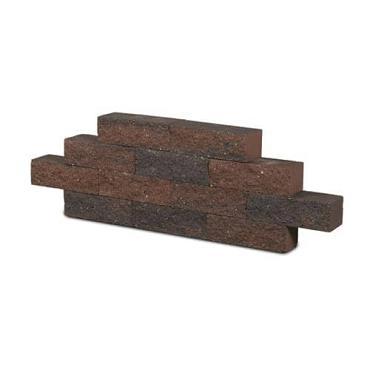 Wall Block bruin-zwart 32.5x12x10 cm