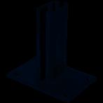 65004 Bodemplaat rechthoek antra 10x15cm