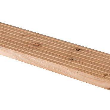 Douglas planken antislip /vlonderplank 2.8x14.5x500cm onderkant glad