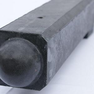 Tussenpaal antraciet glad met diamantkop 10x10x190 cm