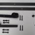 Schuifdeurbeslag - recht model - lengte rail: 2000mm - zwart - belastbaar gewicht: max. 100 kg - plaatsing binnen of onder een overkapping