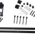 Schuifdeurbeslag - T-model - lengte rail: 2000mm - zwart - belastbaar gewicht: max. 150 kg - plaatsing binnen of onder een overkapping